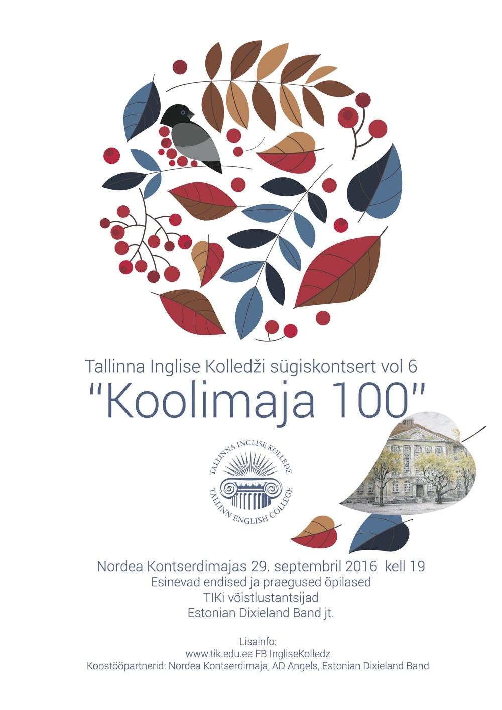 Tallinna Inglise Kolledži sügiskontsert vol 6: Koolimaja 100